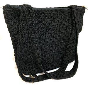 The SAK Crochet Shoulder Bag Purse EUC